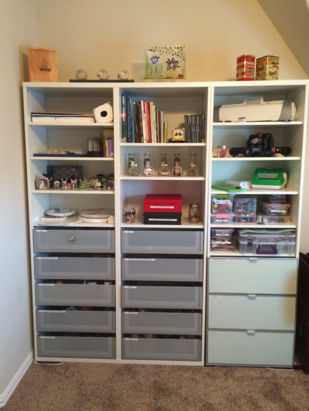 organized shelving and drawers